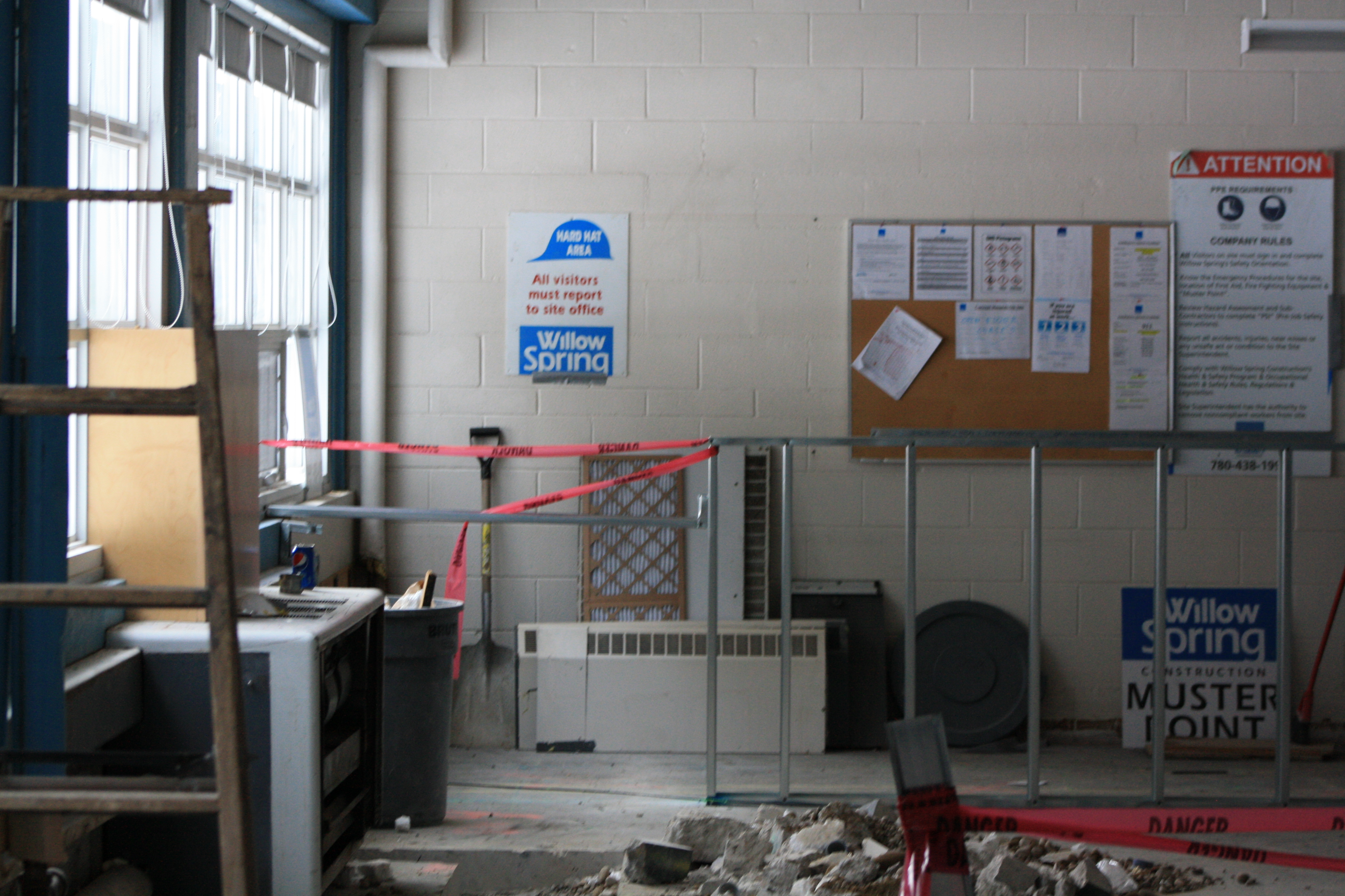 Science Lab under construction.